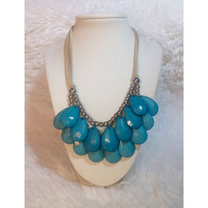 Jewelry - Double Strand Faux Turquoise Statement Necklace